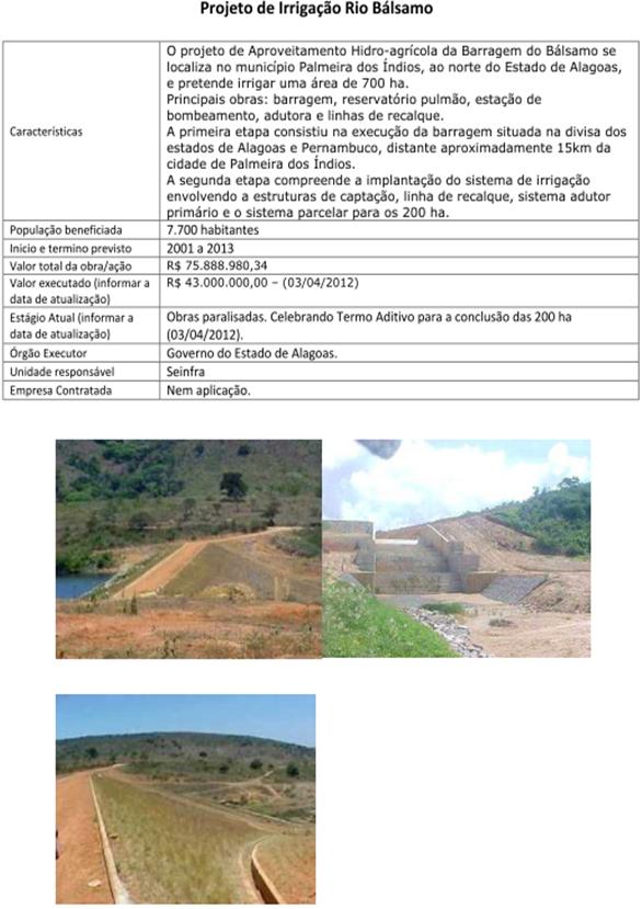 Projeto de Irrigação Rio Bálsamo