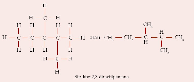 Struktur 2,3-dimetilpentana