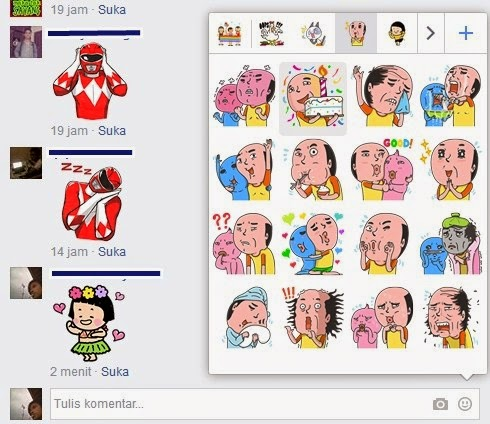 Comments With FB Stickers