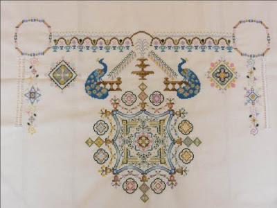 Château,Espagne,SAL,Broderie,Papillon création