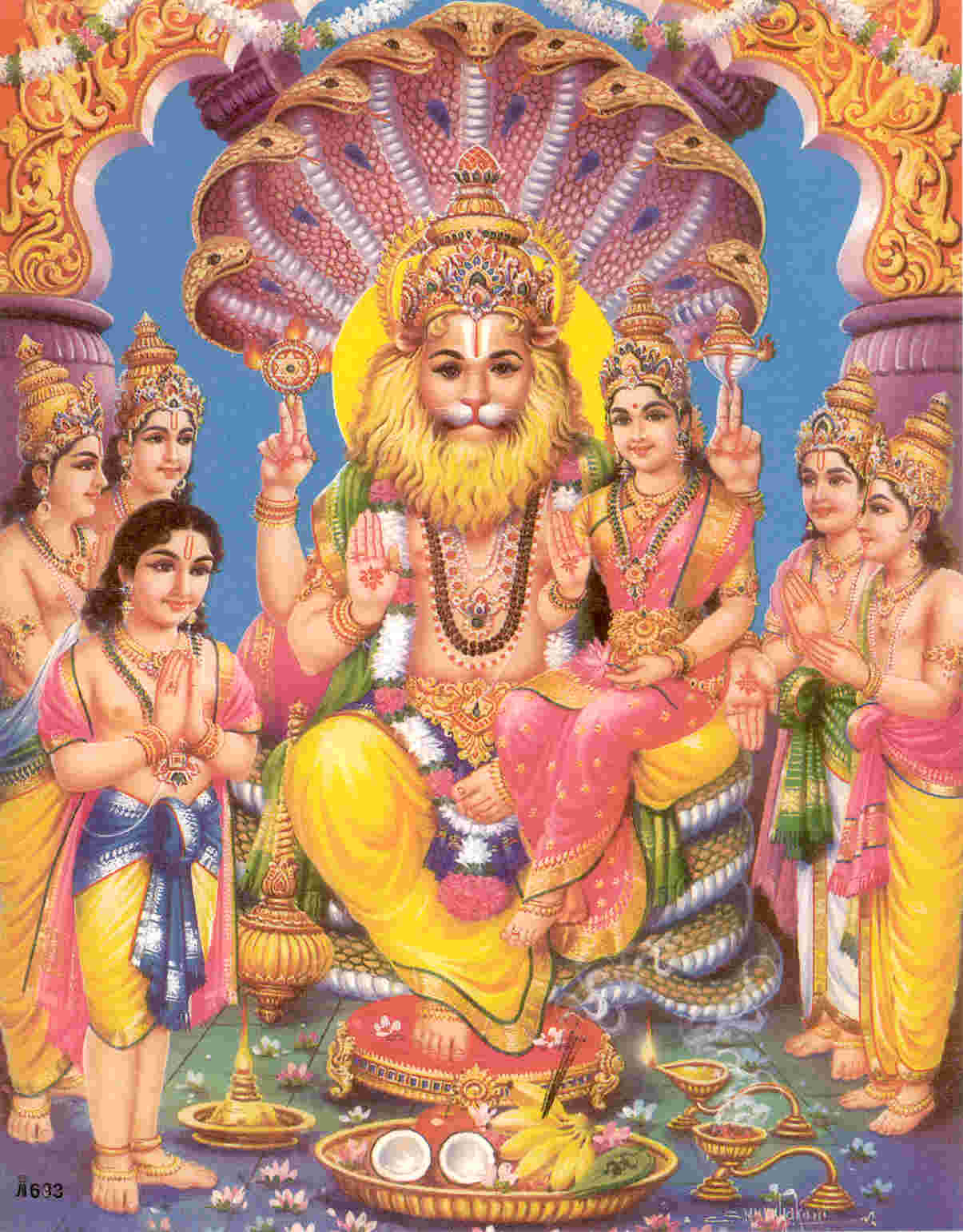Picture of Lakshmi Narasimha Form of Vishnu