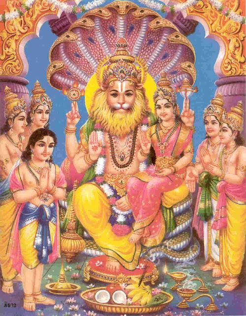 Picture of Lakshmi Narasimha Form of Vishnu