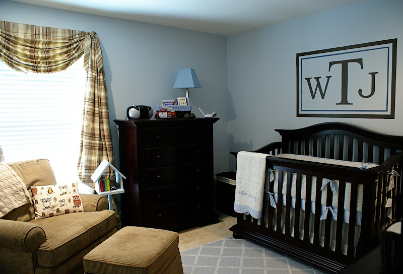 Sweet baby boy nursery title=