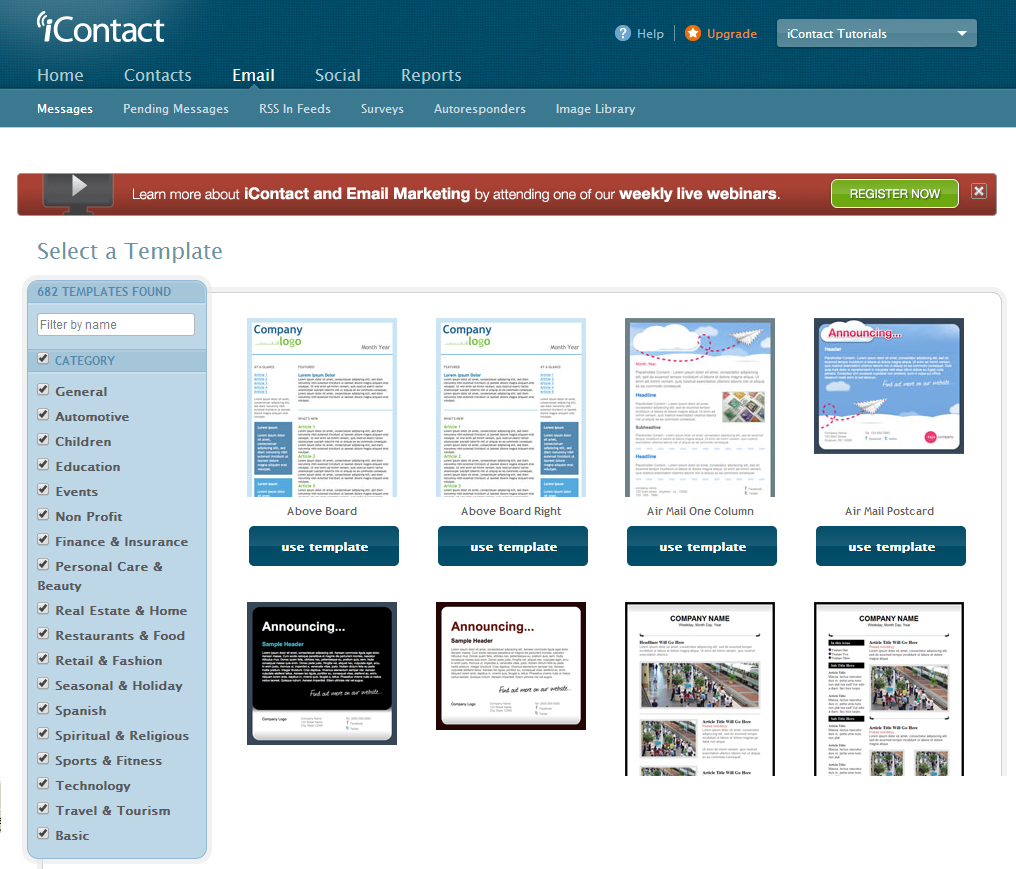 Your iContact Image Library | iContact Tutorials