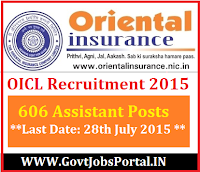 OICL RECRUITMENT 2015