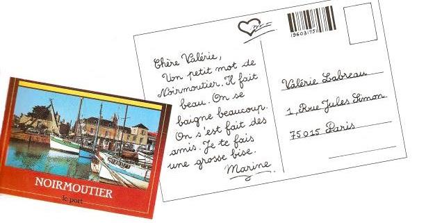 El blog de 4º Almadén: Écrire une carte postale