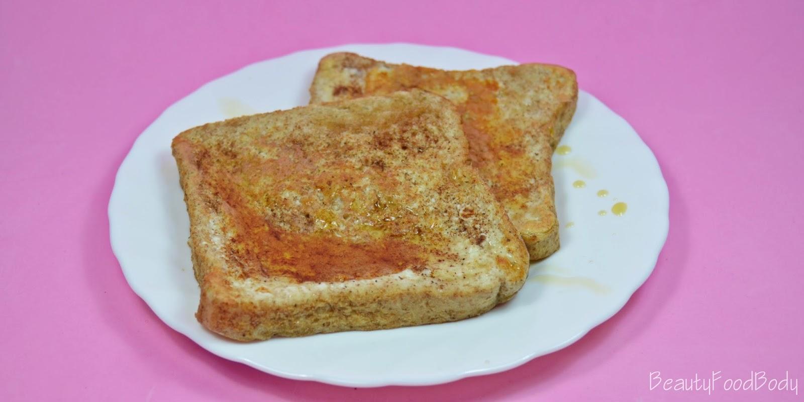 beautyfoodbody receta fit torrijas sanas french toast