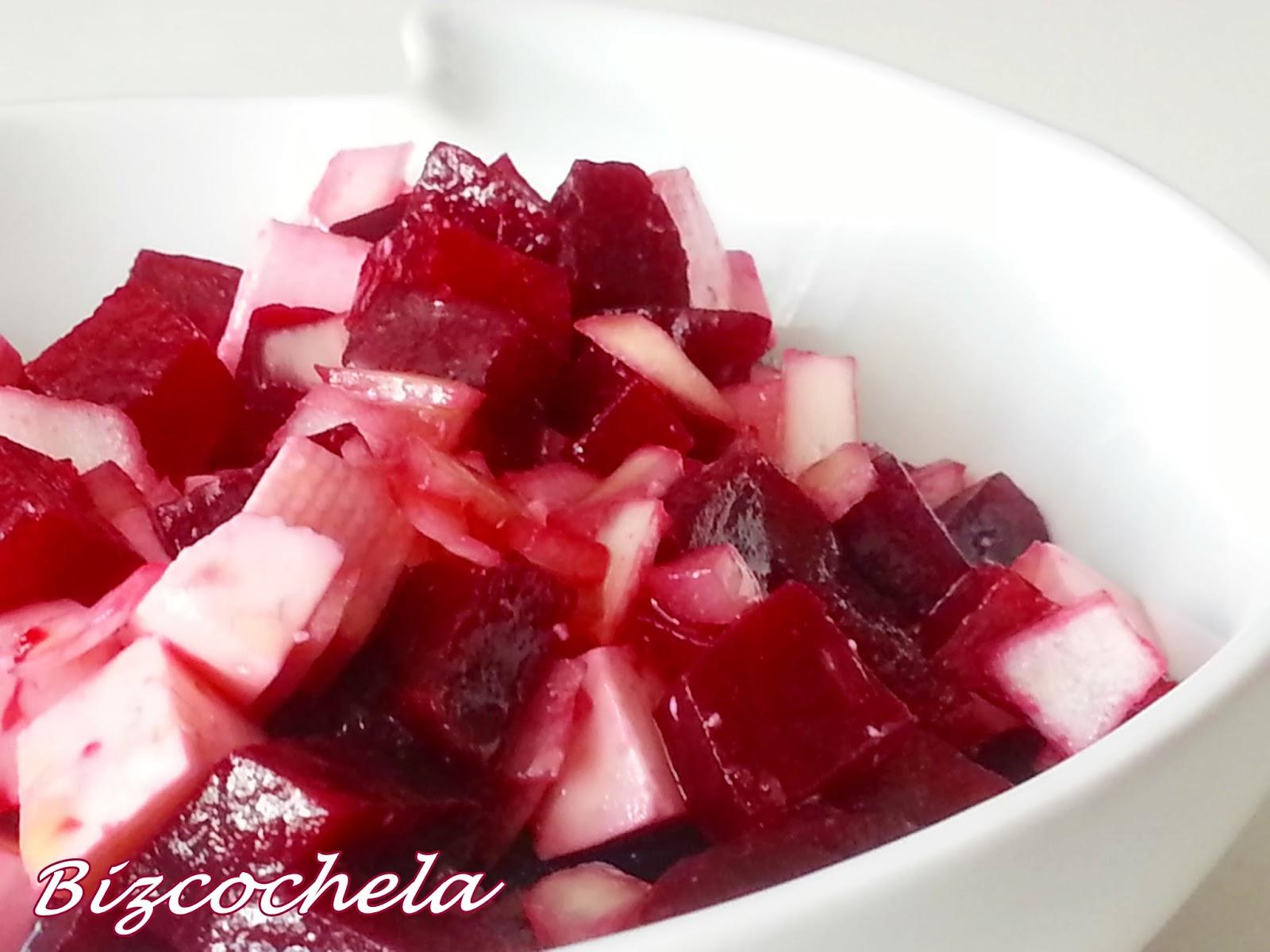 Recetas y a cocinar se ha dicho ensalada r pida de for Cocinar remolacha