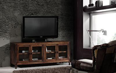 Un estilo r stico con mucho encanto for Mueble tv industrial