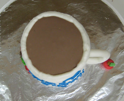 Tea Mug Cake - Overhead View