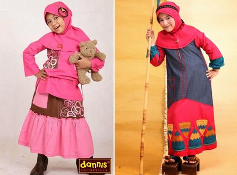 busana muslim anak perempuan dannis