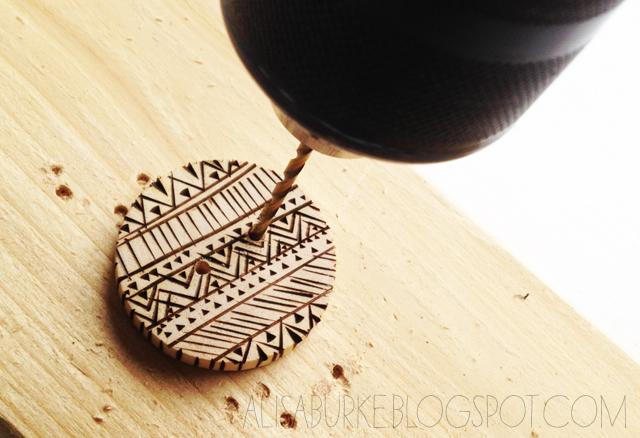 Alisaburke Wood Burned Buttons