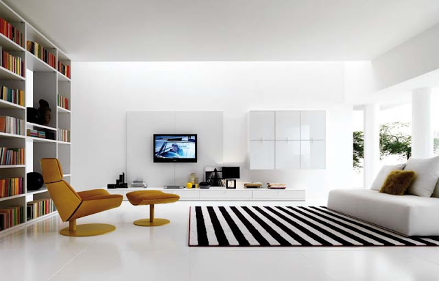 White Living Room Design Ideas photo