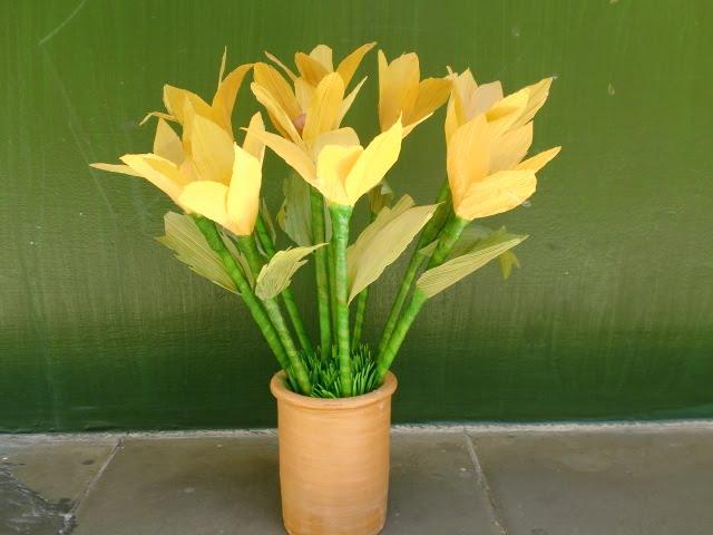 Eva Henny S Blog Cara Pembuatan Bunga Dari Kulit Jagung