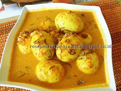 Cara Membuat Gulai Telur Kuning Resep Padang