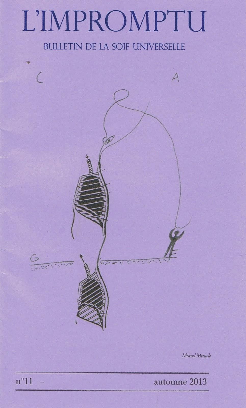 L'impromptu numéro onze (automne 2013), Bulletin de l'Umbo