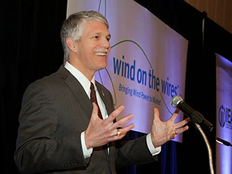 Tom Kiernan, CEO of the American Wind Energy Association, seeks new federal support for wind power production. (Credit: Wind on the Wires) Click to Enlarge.