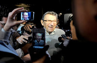 a smiling Joe Paterno allowed a sexual predator to go free for years