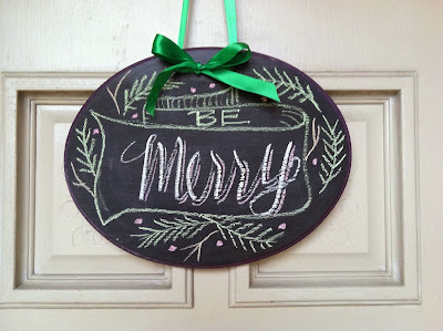 Lettering Lately chalkboard wreath