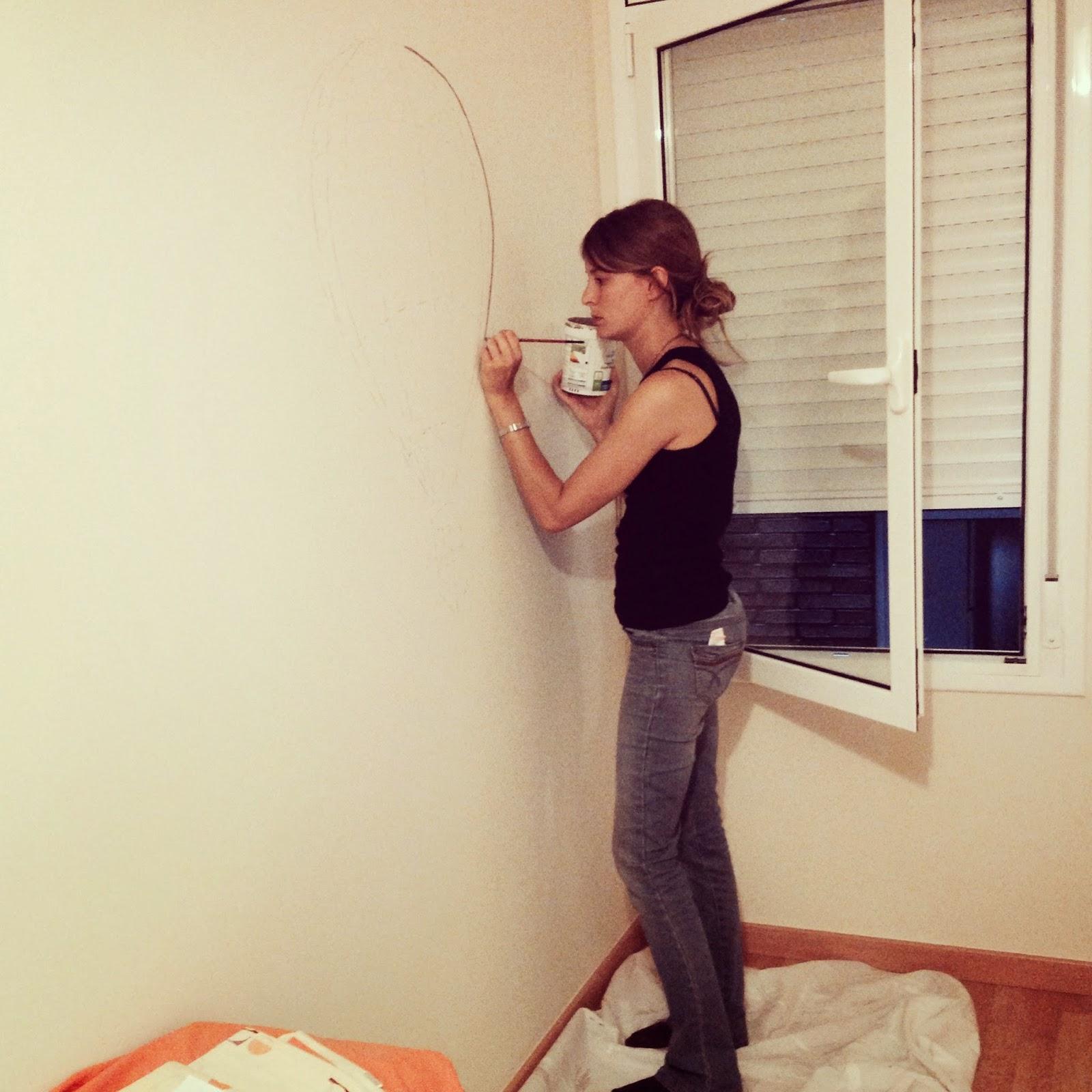 Dormitorio infantil archivos rojosill n for Como dibujar un mural en la pared