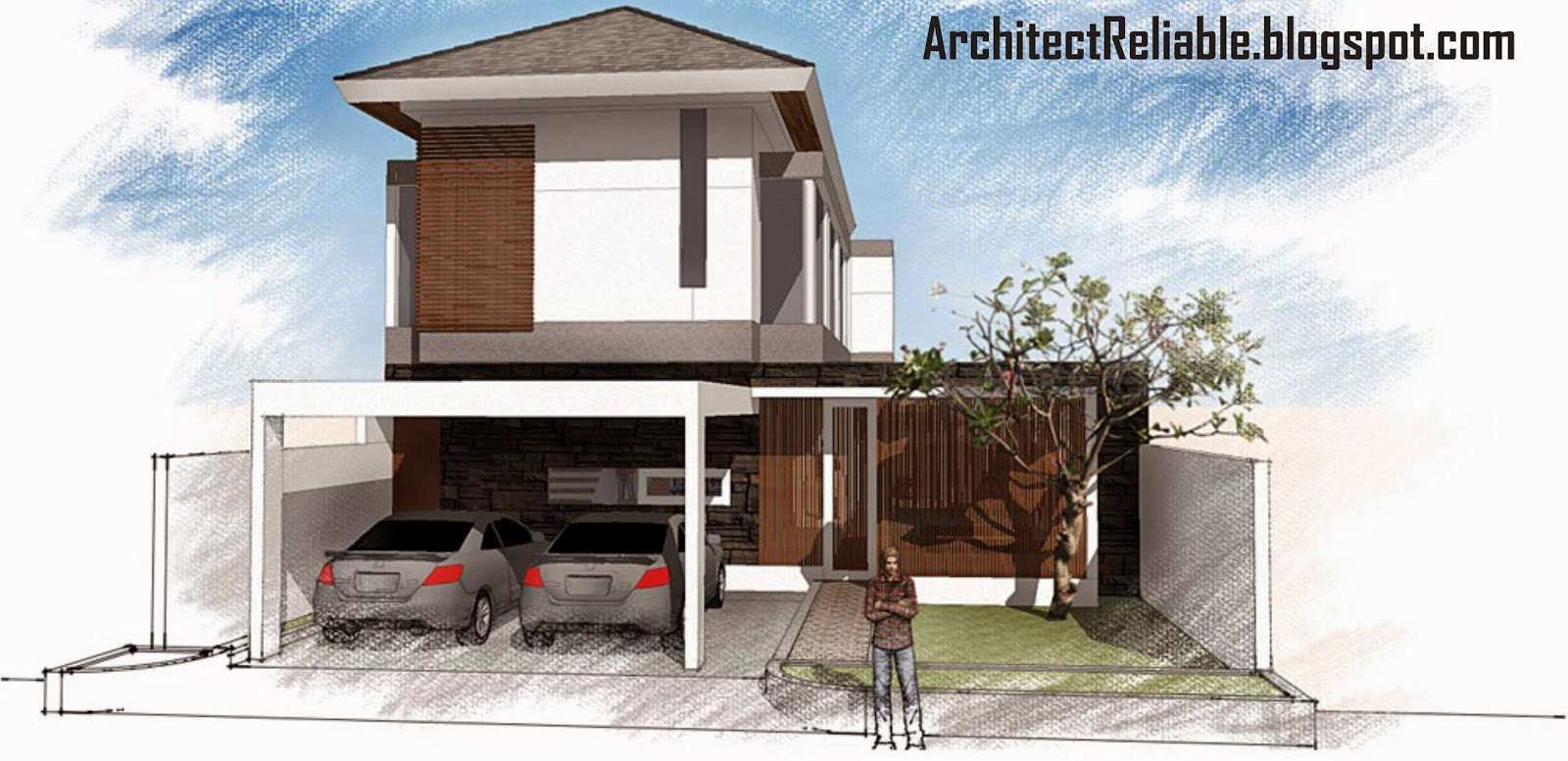 desain architect: tropical minimalist house models