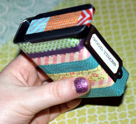 DIY Washi Tape Stash Tin - Simple DIY Washi Tape Project Idea