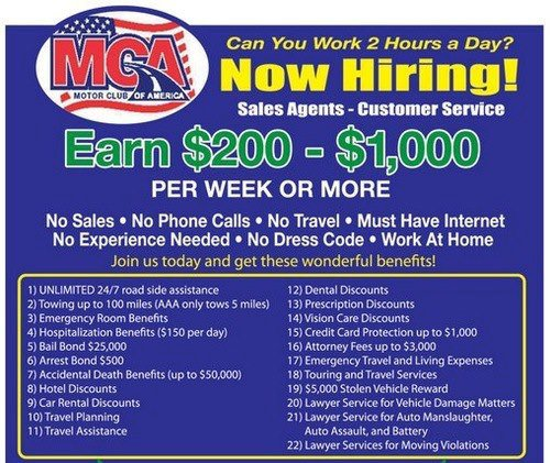 Mca Now Hiring Learn How To Make 300 3000 Or More