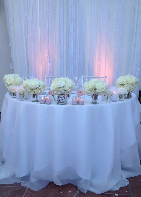 romantic and modern sweethearts table with candles