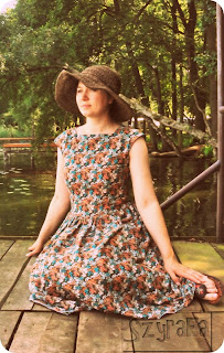 Handmade, DIY, Sewing, Dress, Retro