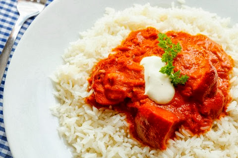 Classic Butter Chicken with Steamed Rice