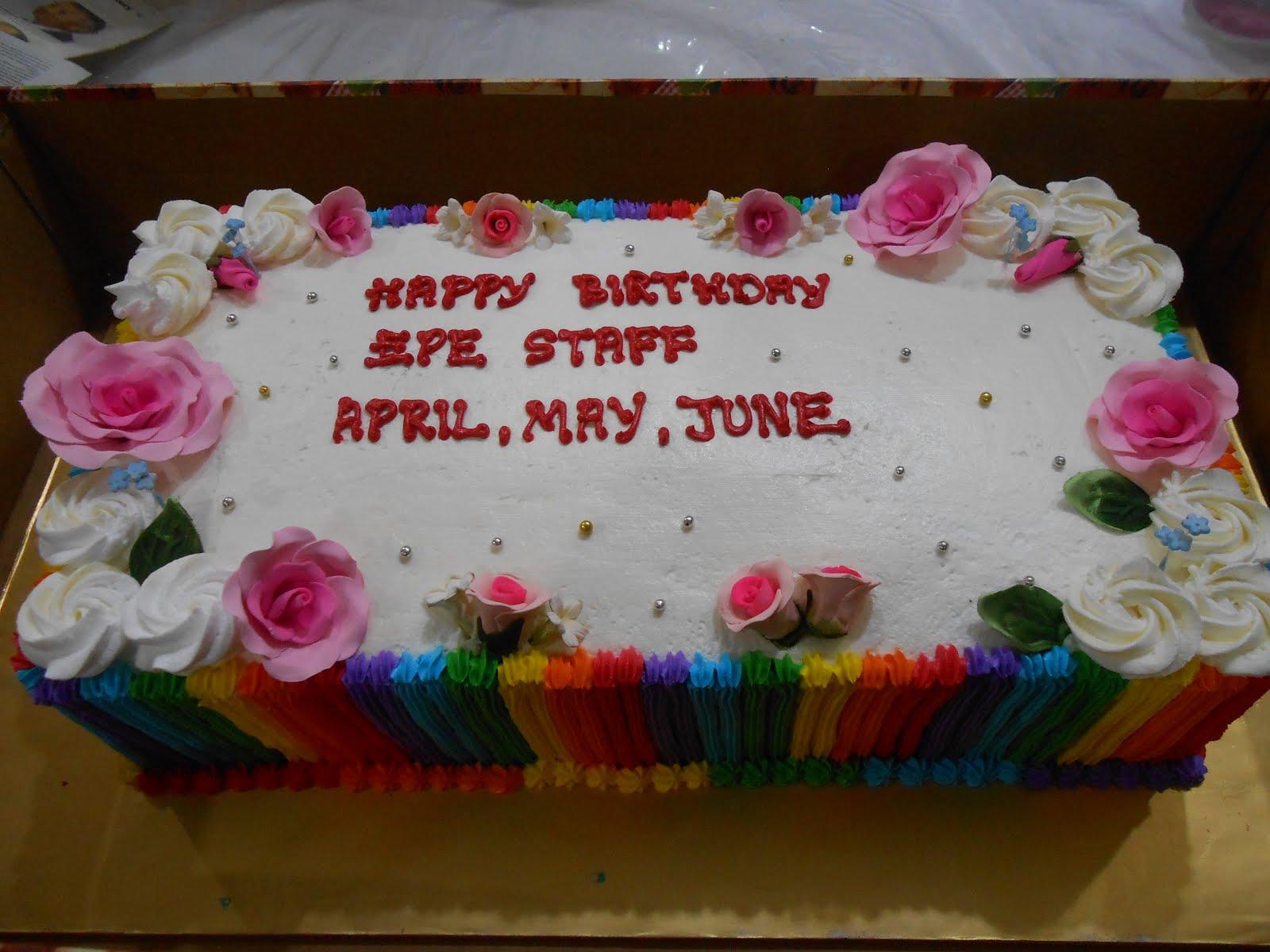 Rainbow cake size 18 x 9 ( 4 kilo )