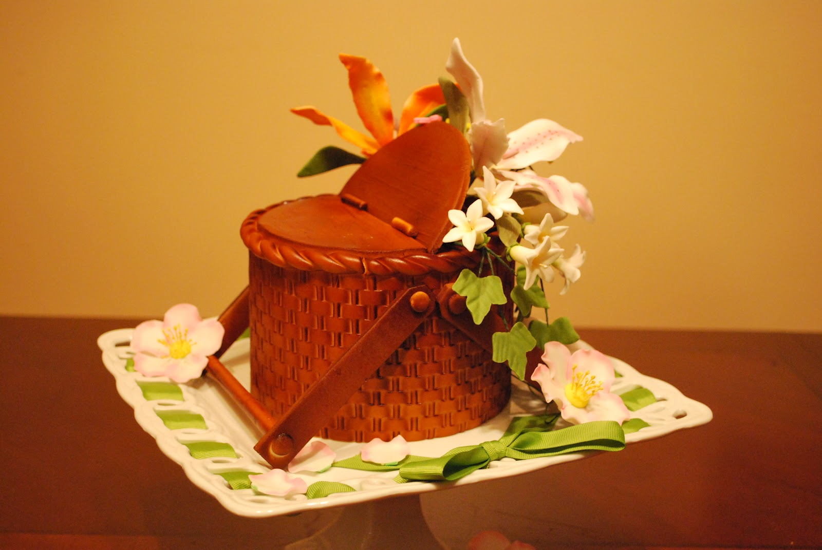 Flowers Basket Making : Cakes by hotkist basket cake with tiger lilies