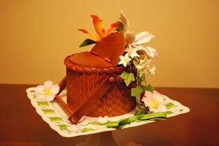 Cakes By Hotkist Basket Cake With Tiger Lilies