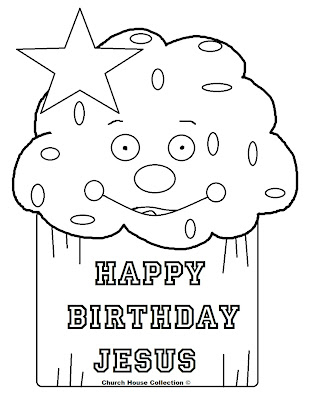 Cupcakes Happy Birthday Jesus Coloring Page