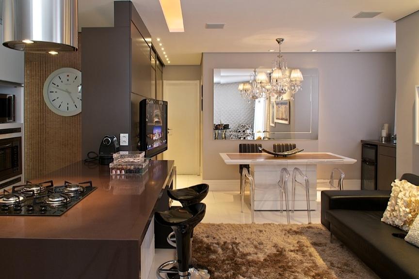 Sala Pequena Integrada Com Cozinha ~ 20 Cozinhas Integradas às Salas! Veja dicas e tendências de