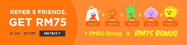 Shopback Refer Friends to earn RM 5!