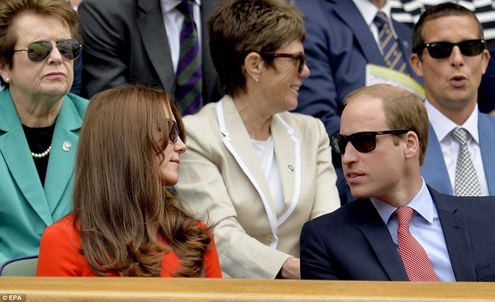 Kate and William wore matching Ray Ban sunglasses