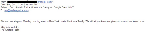google playground event cancelled