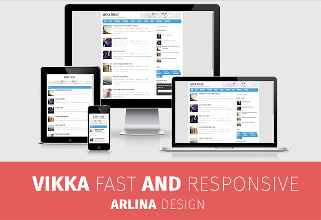 Vikka Fast and Responsive Blogger Template