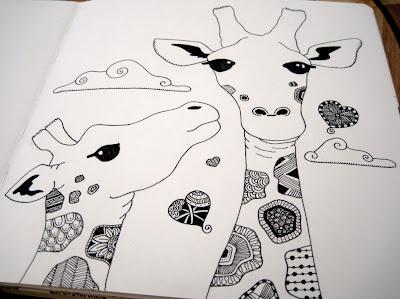 Giraffe line art