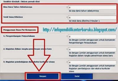 gambar Panduan Laporan BOS Online Terbaru