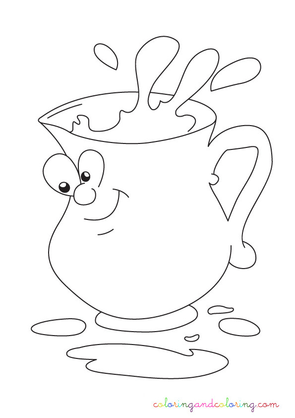 Free Coloring Pages Of Glass With Water