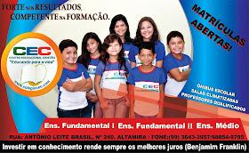 Escola CEC Matrículas Abertas!