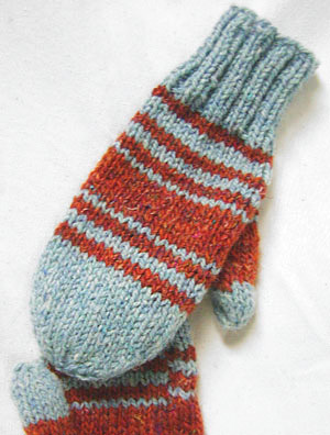 Knitting Pattern For Mittens Using Two Needles : Knitting Mittens-Knitting Gallery
