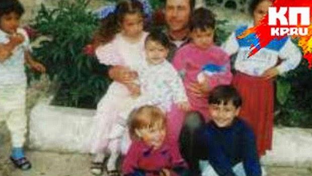 Foto masa kecil Olga Romanovich bersama saudaranya