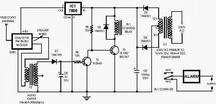 rangkaian alarm wireless untuk mobil