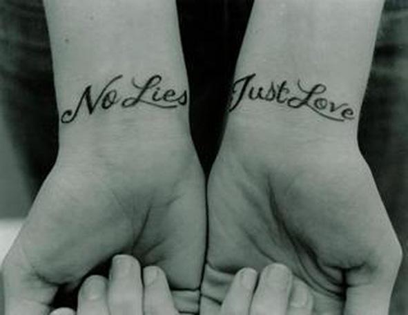 Татуировки для пары влюбленных