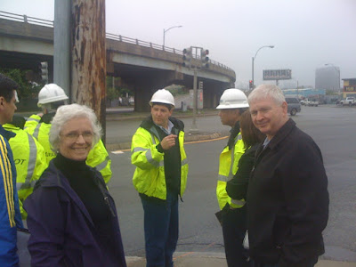 Sen. Jehlen and I at the McCarthy Overpass in May 2011.