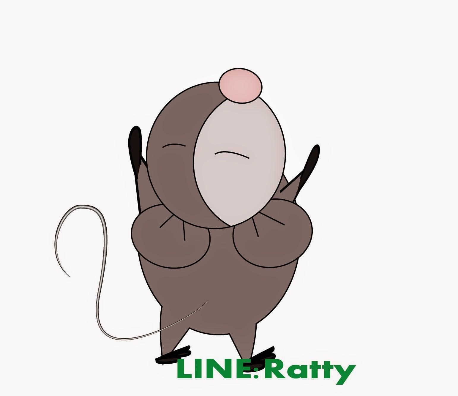 """""""สติ๊กเกอร์ไลน์ แรทตี้ [RATTY] หนูน้อยรักธรรมชาติ"""
