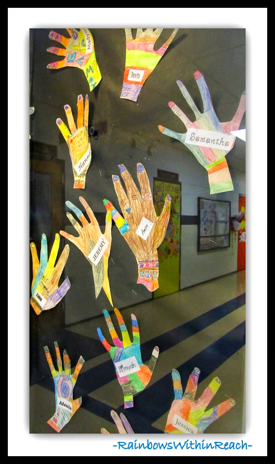 Personalized Hands in Showcase Display at RainbowsWithinReach
